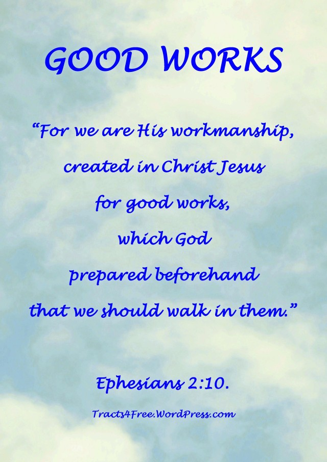 Good Works Scripture poster.