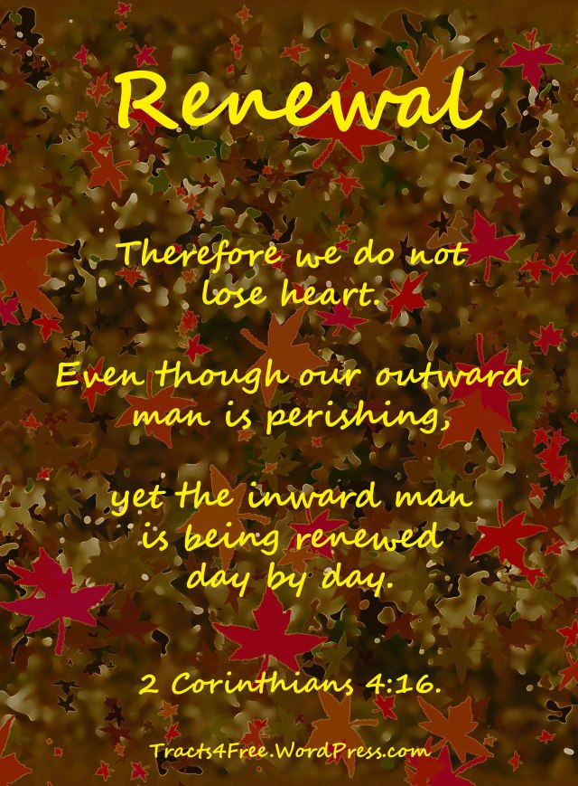 """Renewal"" Christian poster."