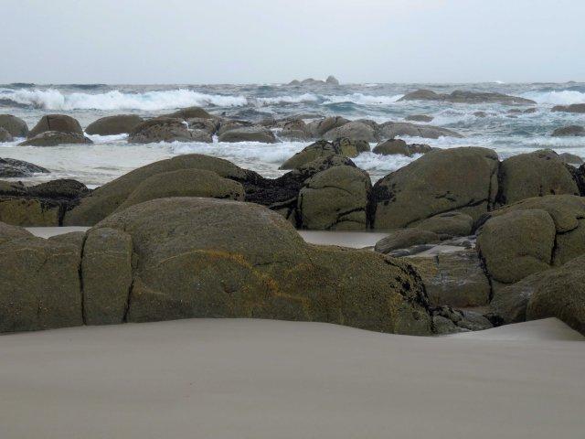Stormy weather. Beerbarrell Beach. Tasmania. Photo: David Clode.