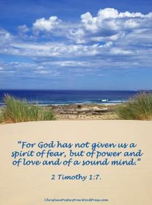 2 Timothy 1:7 Bible verse poster by David Clode.