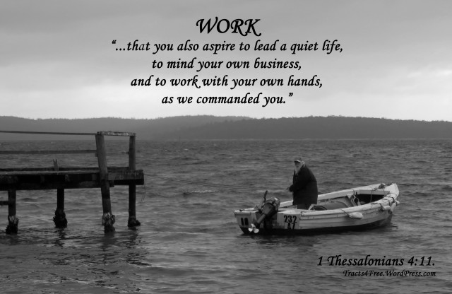 """""""Work"""" poster. Georges Bay. Photo and poster by David Clode."""