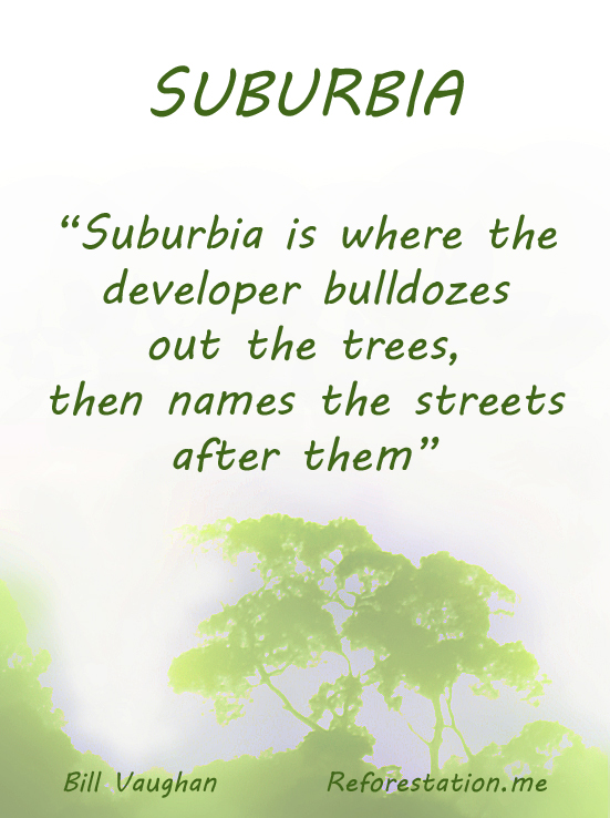 Suburbia poster by david Clode.
