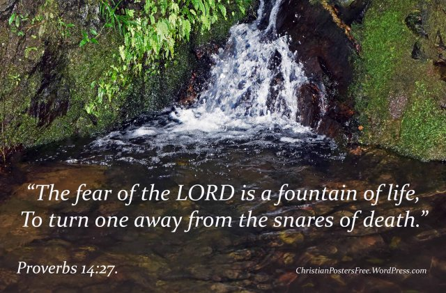 Fountain of life Bible verse poster.