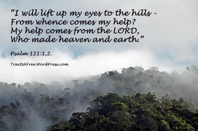 Psalm 121:1,2. Bible verse poster.