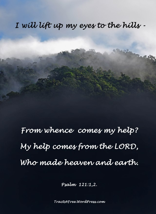 Psalm 121:1,2. Bible poster.