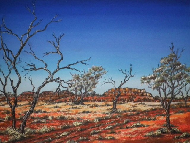 Australian Outback painting by Sian Butler.