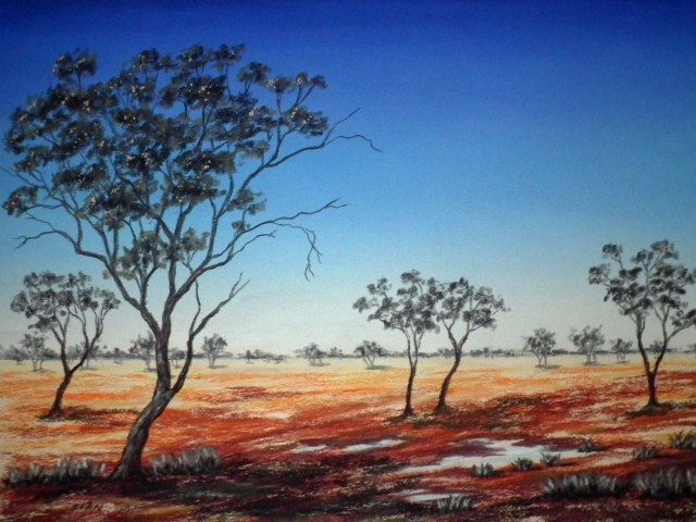 Australian Outback in pastel by Sian Butler.