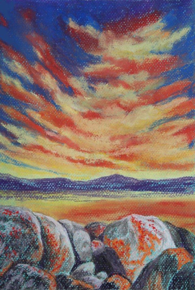 """""""Exuberant Sunset""""."""