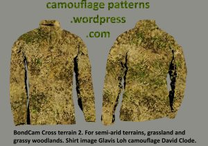 BondCam Cross Terrain. camouflage pattern designed by David Clode for anti-poaching rangers.